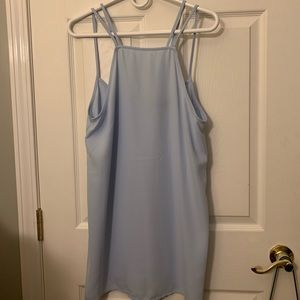 light blue sheer strappy dress